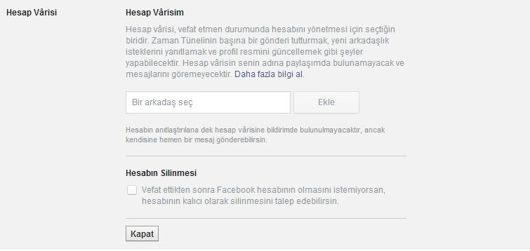 facebook hesap mirası